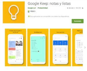 GoogleKeep_ notas y listas - Aplicaciones en Google Play