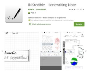 INKredible - Handwriting Note - Aplicaciones en Google Play