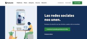 Pagina de inicio Hootsuite