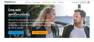 Pagina web inicio Amazon Pay