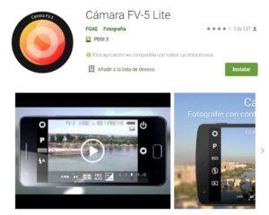 Play Store Cámara FV-5