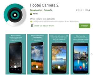 Play Store Footej Camera 2