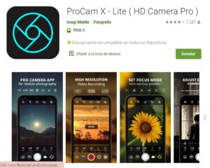 Play Store ProCam X