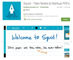 Squid - Take Notes & Markup PDFs - Aplicaciones en Google Play