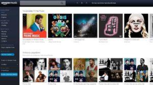 pantalla de inicio de amazon prime music