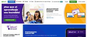 pagina de inicio de kahoot.com