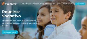 pagina de inicio de socrative