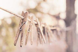 pinzas de la ropa de madera